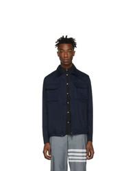 Мужская темно-синяя куртка-рубашка от Moncler