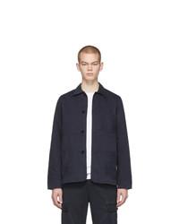 Мужская темно-синяя куртка-рубашка от Officine Generale