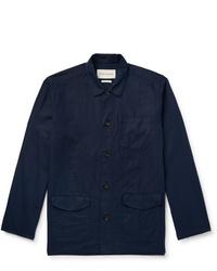 Мужская темно-синяя куртка-рубашка от Oliver Spencer