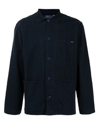 Мужская темно-синяя куртка-рубашка от Polo Ralph Lauren