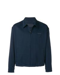 Мужская темно-синяя куртка-рубашка от Prada