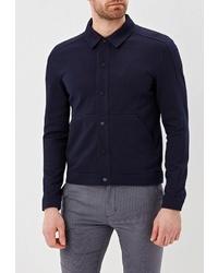 Мужская темно-синяя куртка-рубашка от Selected Homme
