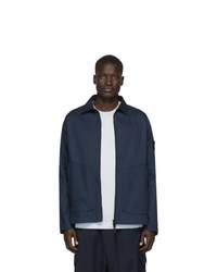 Мужская темно-синяя куртка-рубашка от Stone Island