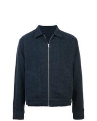 Мужская темно-синяя куртка-рубашка от The Elder Statesman
