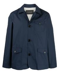 Мужская темно-синяя куртка-рубашка от Viktor & Rolf
