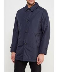Темно-синяя куртка с воротником и на пуговицах от Bazioni