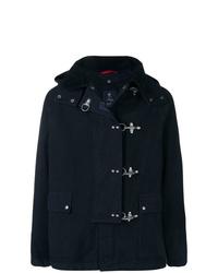 Темно-синяя куртка с воротником и на пуговицах от Fay