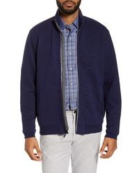 Темно-синяя куртка харрингтон