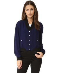 Женская темно-синяя куртка от Rebecca Minkoff
