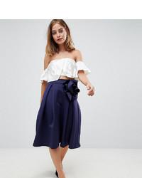 Темно-синяя пышная юбка от Asos Petite