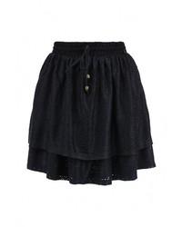 Темно-синяя пышная юбка от Tom Tailor Denim