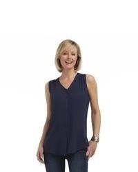 Женская темно-синяя рубашка без рукавов от Laura Scott