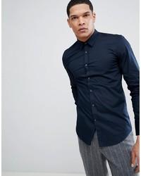 Мужская темно-синяя рубашка с длинным рукавом от Antony Morato
