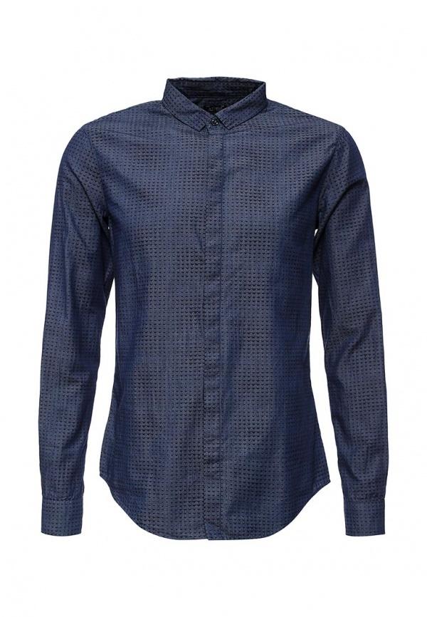Мужская темно-синяя рубашка с длинным рукавом от Armani Jeans   Где ... 7178ce89b6c
