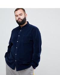 Мужская темно-синяя рубашка с длинным рукавом от ASOS DESIGN