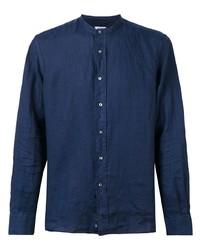Мужская темно-синяя рубашка с длинным рукавом от Aspesi
