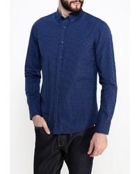 Мужская темно-синяя рубашка с длинным рукавом от Boss Orange