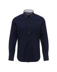 Мужская темно-синяя рубашка с длинным рукавом от Brave Soul