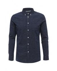 Мужская темно-синяя рубашка с длинным рукавом от Burton Menswear London
