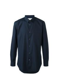 Мужская темно-синяя рубашка с длинным рукавом от Comme Des Garcons SHIRT