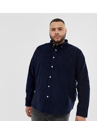 Мужская темно-синяя рубашка с длинным рукавом от D-struct