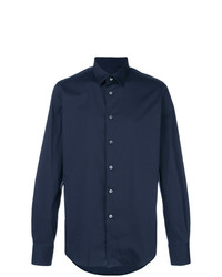 Мужская темно-синяя рубашка с длинным рукавом от Dell'oglio