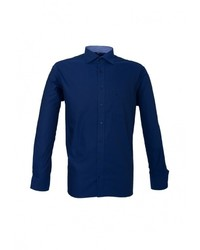 Мужская темно-синяя рубашка с длинным рукавом от Eterna
