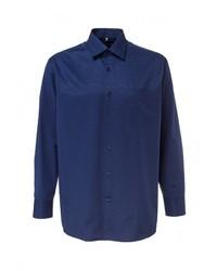 Мужская темно-синяя рубашка с длинным рукавом от GREG