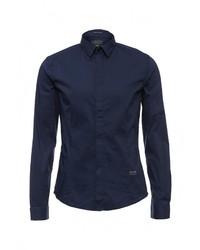 Мужская темно-синяя рубашка с длинным рукавом от Guess Jeans
