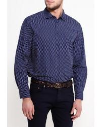 Мужская темно-синяя рубашка с длинным рукавом от Incity