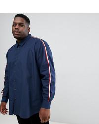 Мужская темно-синяя рубашка с длинным рукавом от Jacamo