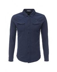 Мужская темно-синяя рубашка с длинным рукавом от Mezaguz
