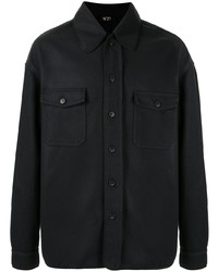 Мужская темно-синяя рубашка с длинным рукавом от N°21