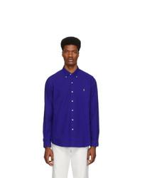 Мужская темно-синяя рубашка с длинным рукавом от Polo Ralph Lauren