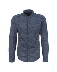 Мужская темно-синяя рубашка с длинным рукавом от s.Oliver Denim