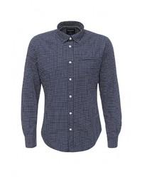 Мужская темно-синяя рубашка с длинным рукавом от SPRINGFIELD