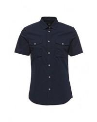 Мужская темно-синяя рубашка с коротким рукавом от Burton Menswear London