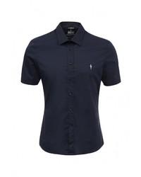 Мужская темно-синяя рубашка с коротким рукавом от Cesare Paciotti