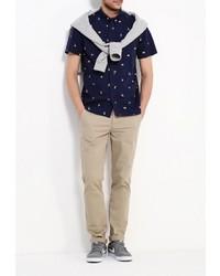 Мужская темно-синяя рубашка с коротким рукавом от DC Shoes