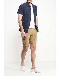 Мужская темно-синяя рубашка с коротким рукавом от NATIVE YOUTH