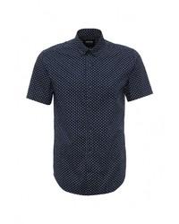 Мужская темно-синяя рубашка с коротким рукавом от Only & Sons