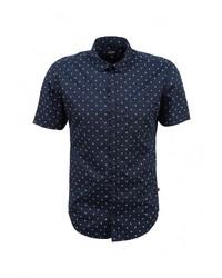 Мужская темно-синяя рубашка с коротким рукавом от s.Oliver Denim