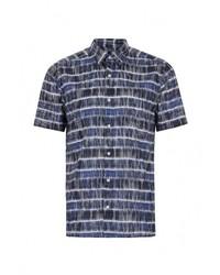 Мужская темно-синяя рубашка с коротким рукавом от Topman