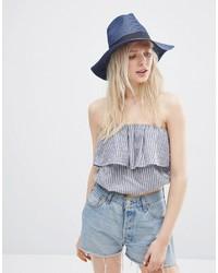 Женская темно-синяя соломенная шляпа от Asos
