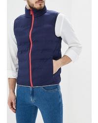 Мужская темно-синяя стеганая куртка без рукавов от Adolfo Dominguez