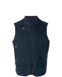 Мужская темно-синяя стеганая куртка без рукавов от Al Duca D'Aosta 1902