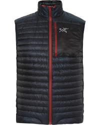 Мужская темно-синяя стеганая куртка без рукавов от Arc'teryx