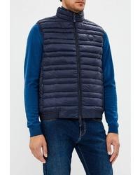 Мужская темно-синяя стеганая куртка без рукавов от Armani Exchange
