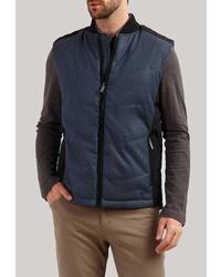Мужская темно-синяя стеганая куртка без рукавов от FiNN FLARE