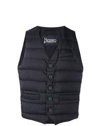 Мужская темно-синяя стеганая куртка без рукавов от Herno